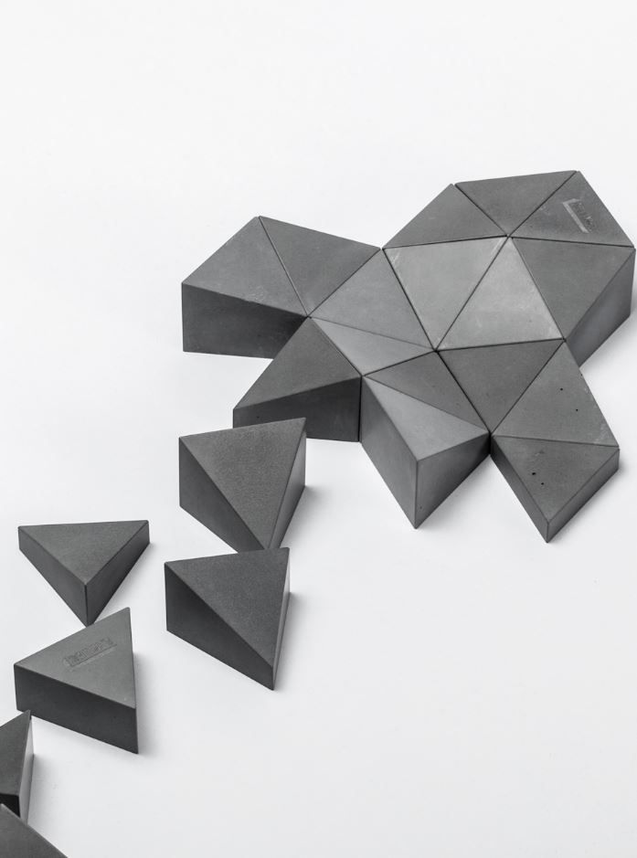 LOGIFACES - The Original Set 16pcs. #Concrete toy by Planbureau #design Daniel Lakos