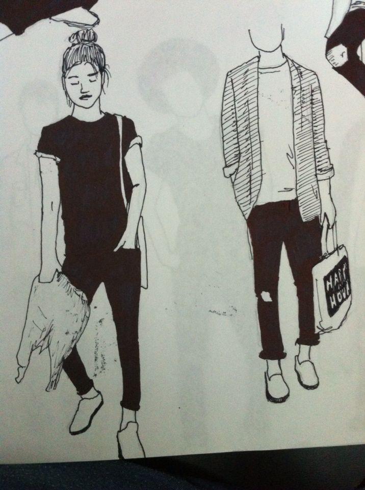 Clothing girls Illustratiob Drawing Ink