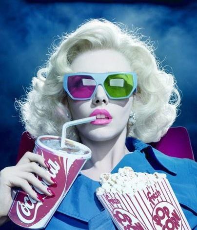 Pop art 3D glasses