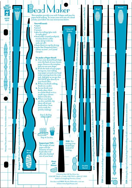Paper bead template