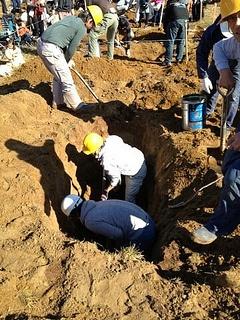 Japan Hole Digging Championship    Photo: ABC/Mark Willacy