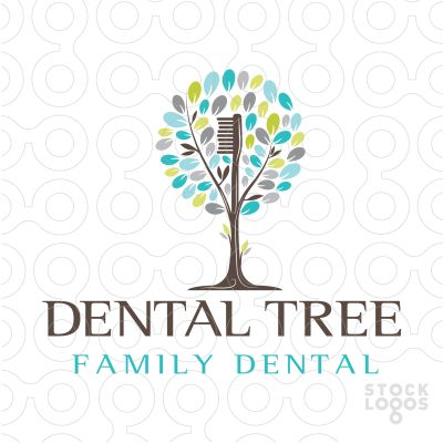 Logo Sold Unique and distinctive dental tree logo that incorporates a toothbrush to represent the tree/truck. This is a modern and fresh