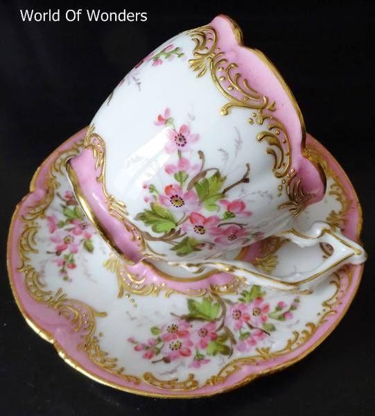<Bestellen> Made in Frankrijk Oude Parijs Parijs oven kop en schotel en (roze) - I ~ Rudoobuwanda ~ Zu