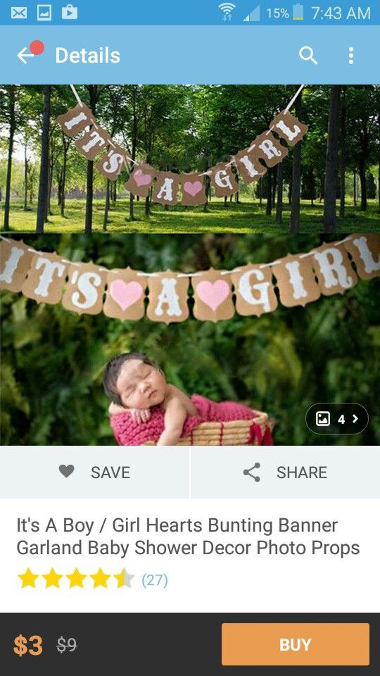 It's A Girl Banner - Wish