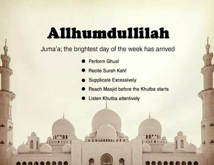 Alhamdulillah it's Jumu'ah Pray for the entire Ummah