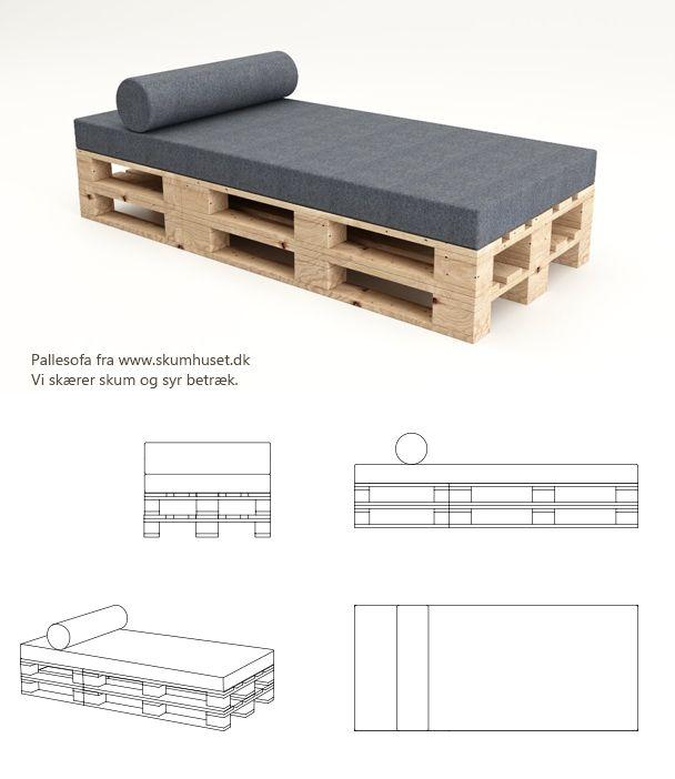 www.pallesofaen.dk koldskum pallemadras hynde til pallesofa kvadrat diy paller pallemøbel sofa af pallerPalledaybed bestående 1 stk. 180x80x12 cm. cm. 1 stk. pølle ø20 cm. x 80 cm.