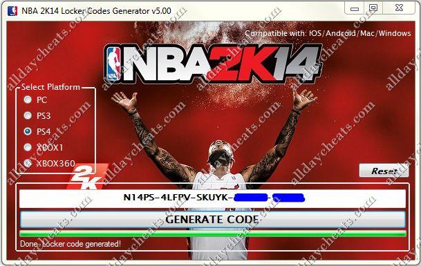 NBA 2k14 Locker Code Generator