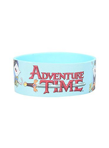 Adventure Time Finn & Jake Logo Rubber Bracelet @ niftywarehouse.com #NiftyWarehouse #AdventureTime #TVShow #Cartoon #Show #CartoonNetwork