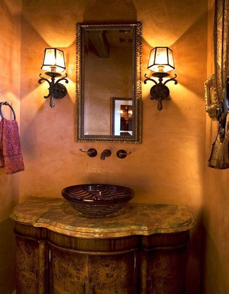 36 best Decorating tips images on Pinterest | Stone wallpaper ... Wall Paper Tuscan Bathroom Design on farmhouse bathroom walls, composite bathroom walls, rustic bathroom walls, victorian bathroom walls, faux finish bathroom walls,