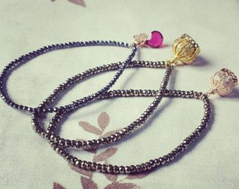 Hematite beaded charm bracelets  #black bracelets #free size bracelets #beaded bracelets
