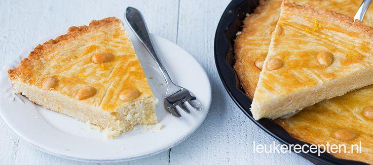 Ouderwets lekkere boterkoek met amandelen en een extra frisse smaak van citroen