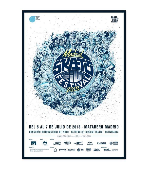 Madrid Skate Film Festival 2013 by Bandiz Studio, via Behance
