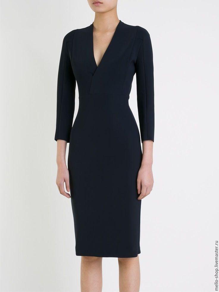 Купить Черное повседневное летнее короткое платье футляр - повседневное платье…