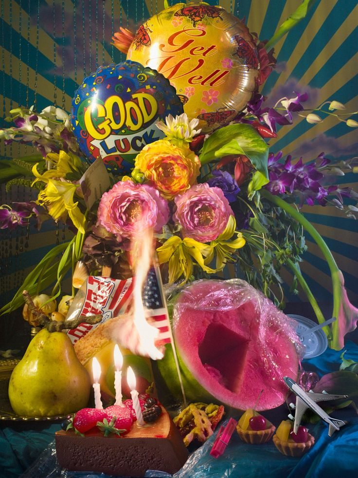 American photographer, David Lachapelle has created 'Earth Laughs In Flowers', a series consisting of ten large-scale still life photographs at Fred Torres Collaborations.