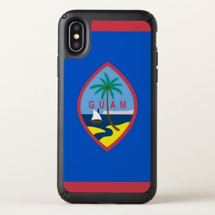 Speck Presidio iPhone X Case with Guam flag - stylish gifts unique cool diy customize