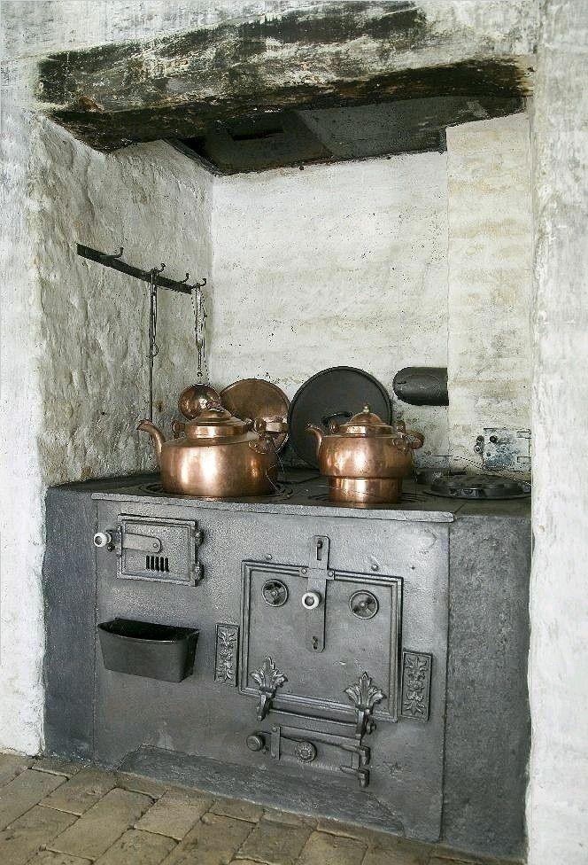 Vecchia cucina in ghisa