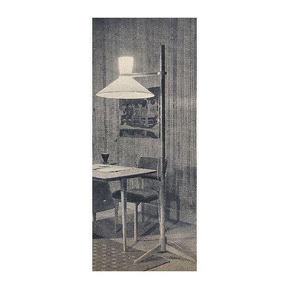 Lampadaire à structure en bois design vintage - cote argus - Price for Design