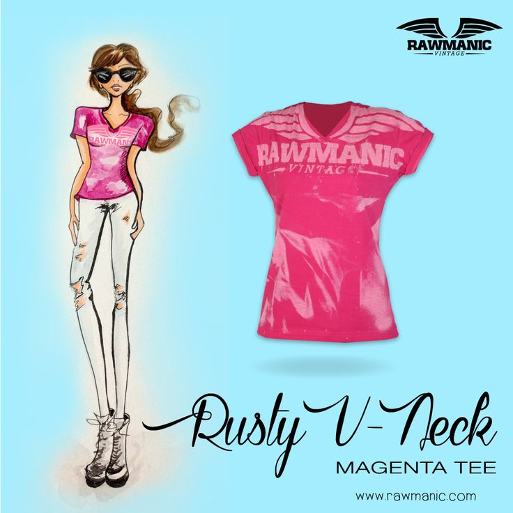 Spice it up with the Rusty V-neck by Rawmanic! Colors available Magenta, Black and Steel Grey... Keep following me for more sketches by me and for the latest collections by Rawmanic. www.RAWMANIC.com