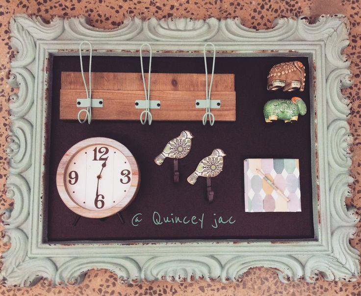 #chalkboard #clock #hooks #elephant #ram #aqua #mint #homedecor #gifts #quinceyjac