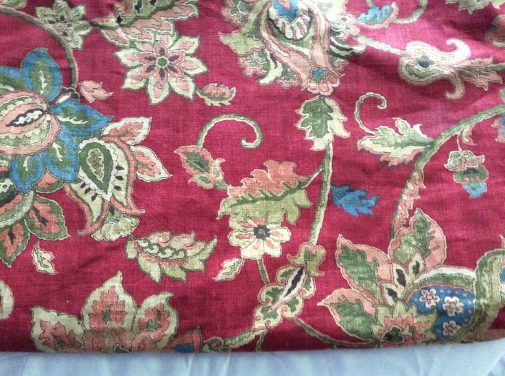 Chaps Ralph Lauren Annabelle Queen Duvet Red Floral #RalphLauren
