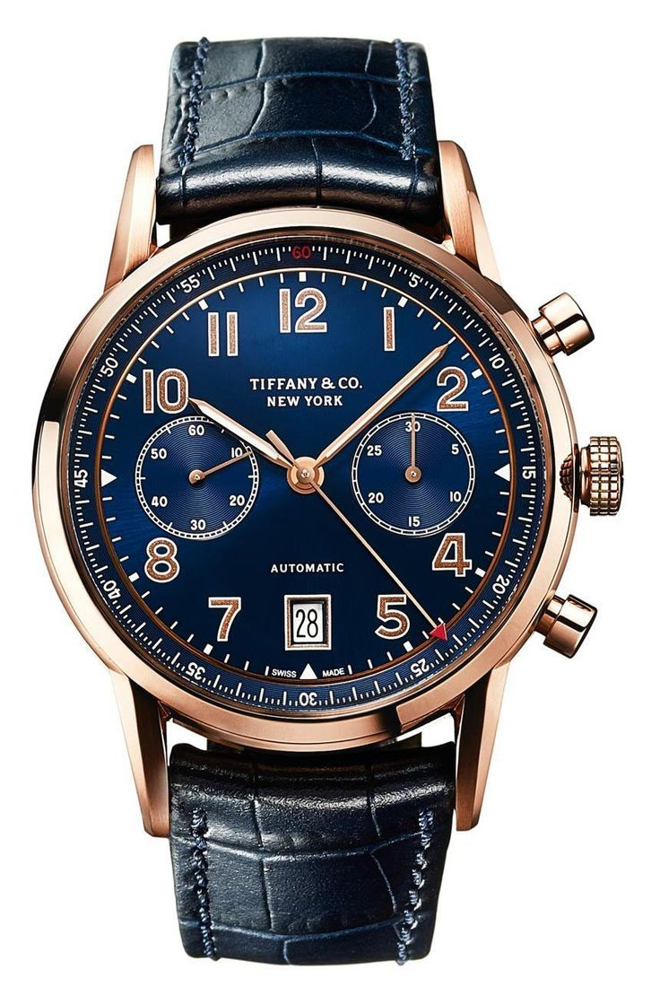 """Tiffany & Co. CT60 Chronograph & Annual Calendar Watches In New Gold Options For 2016 - on aBlogtoWatch """"Continuing to flesh out their still-fresh CT60 collection, Tiffany & Co. has quietly released a few new gold versions of the modern yet classic-looking timepieces which make up the higher-end of the CT60 collection. This includes a new version of the Tiffany & Co. CT60 Chronograph, as well as new versions of the most distinctive (and uncommon) Tiffany & Co. CT60 Annual Calendar..."""""""