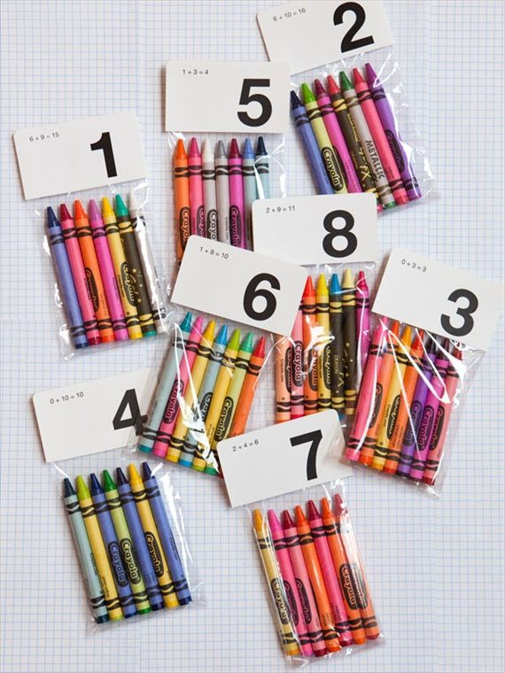 crayon packets for kids - give them something to do and show them to their seats (photo by nicole hill gerulat via amy atlas)
