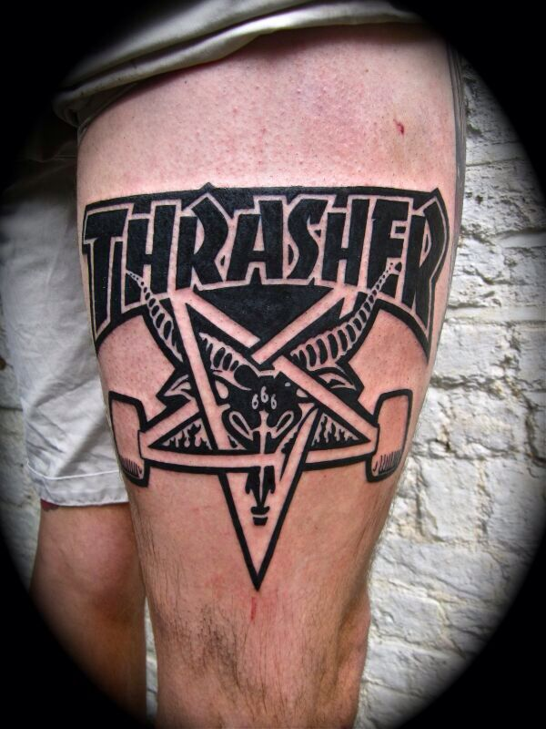 Thrasher skate tattoo
