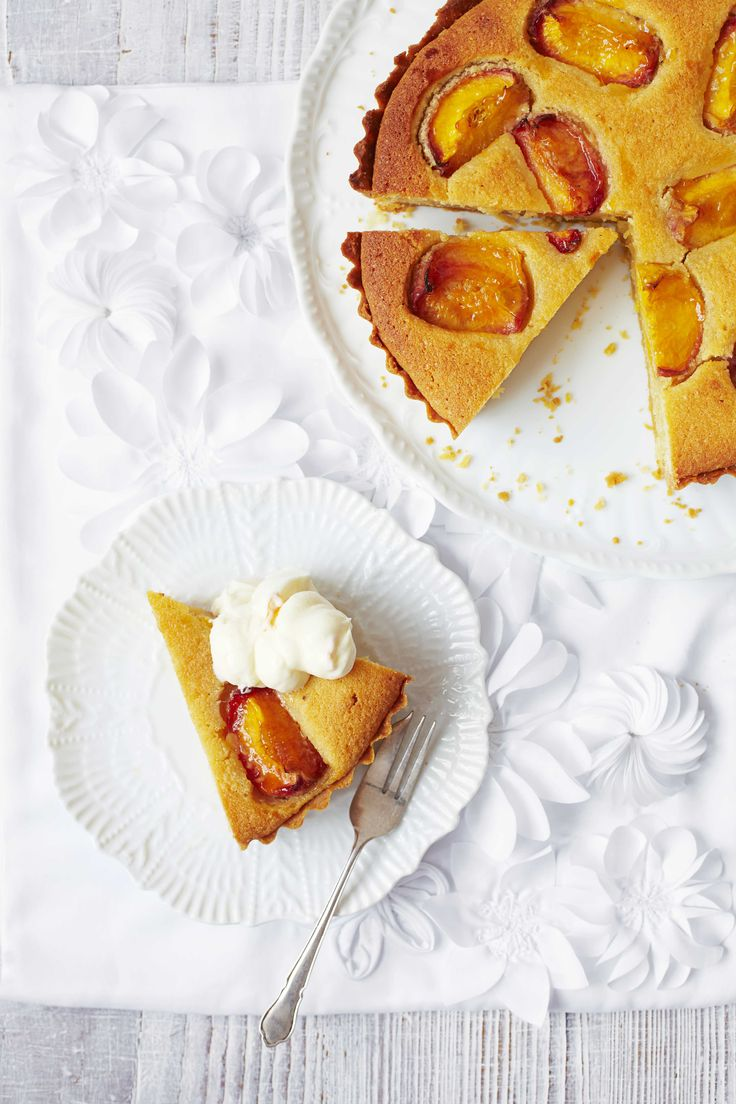 Peach, almond and mascarpone tart: A frangipane tart is a treat for friends and family, especially if you make the pastry too. This easy-to-follow recipe is the best pudding for a crowd.