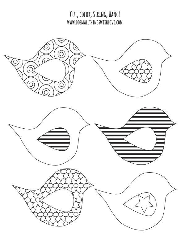 adorable coloring pages, free printable that form a spring banner.  4 different pages.  Love it!!!: