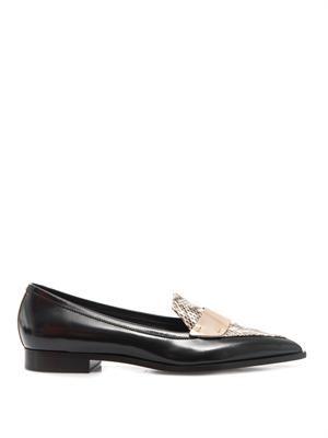 Platino metallic-strap penny loafers