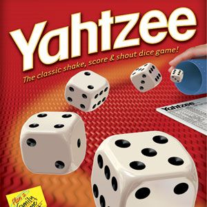 We like to play Yahtzee together and Fhillip always wins because he gets Yahtzee and Ama doen't