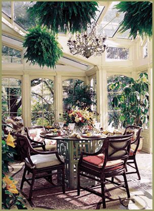Inside - originally designed to house plants, but quickly repurposed for a breakfast nook as well...