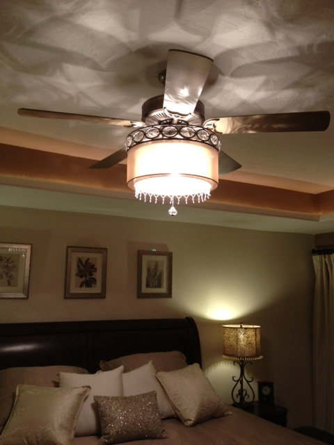 Attach A Chandelier To The Bottom Of Ceiling Fan Bedroom
