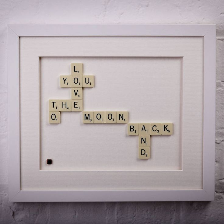 love you to the moon and back scrabble art by copperdot | notonthehighstreet.com