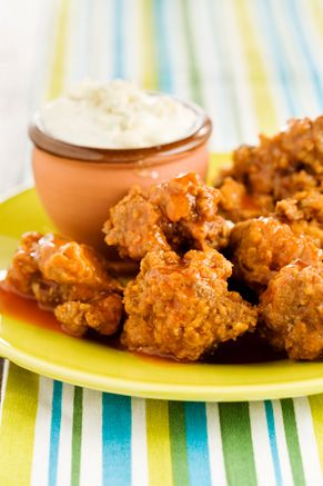 Buffalo Chicken Livers with a Blue Cheese Dipping Sauce