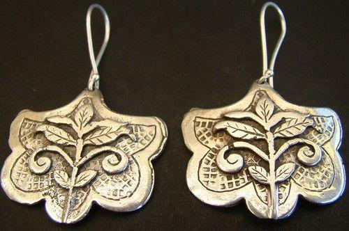 Sterling Silver Solid Hoops Earrings Flowers Mexican Jewelry Taxco Style Vintage | eBay