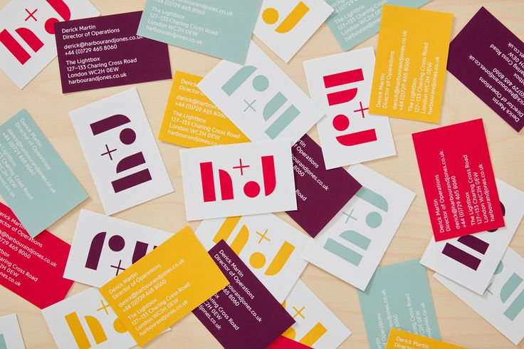 Logo and business card design by London-based studio Spy for catering business H+J