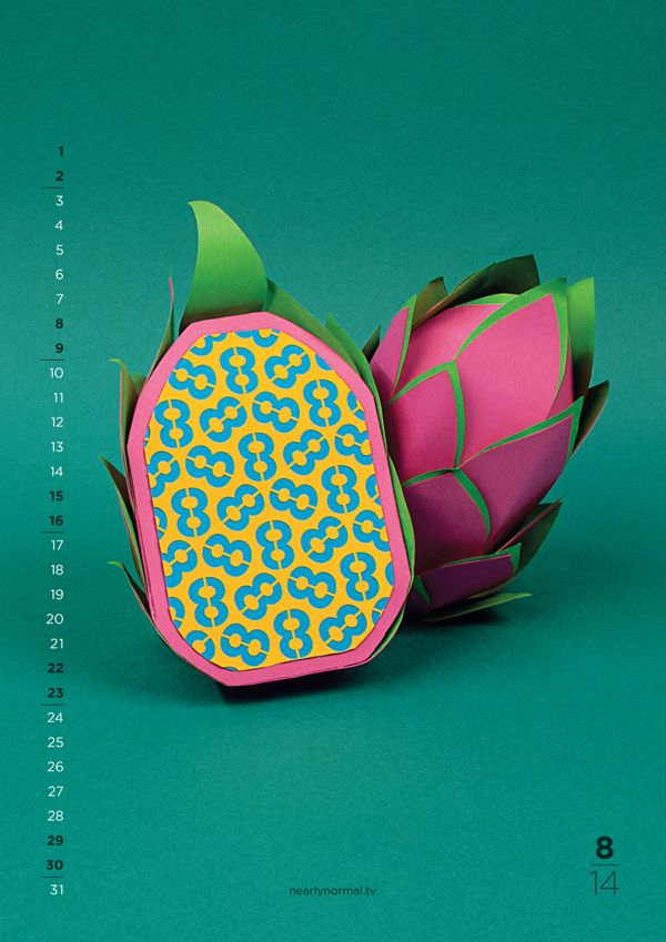 2014 CALENDAR | NEW FLAVOURS by NEARLY NORMAL, via Behance