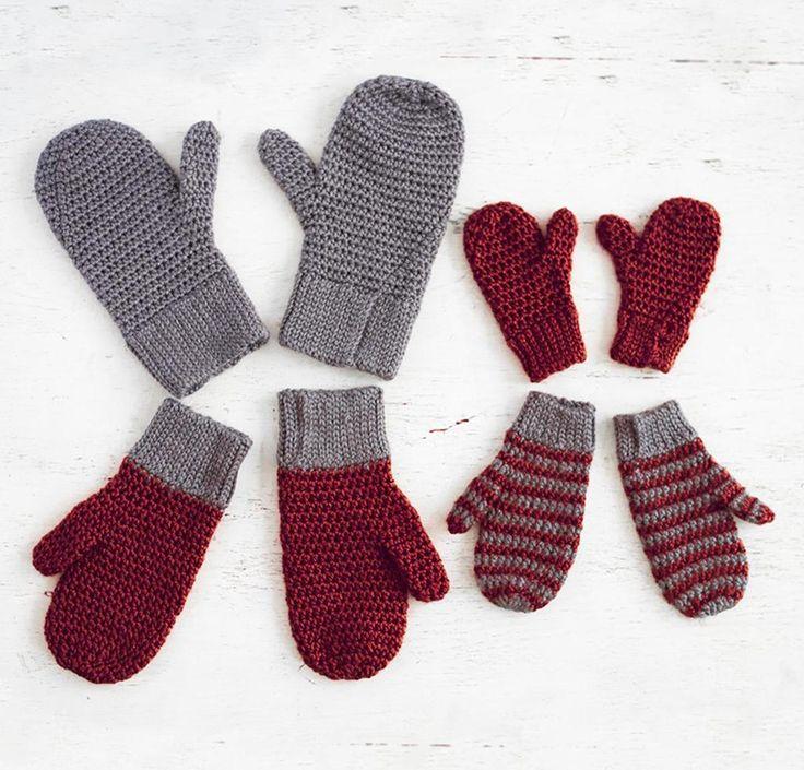 Bernat Family Mittens Crochet Kit