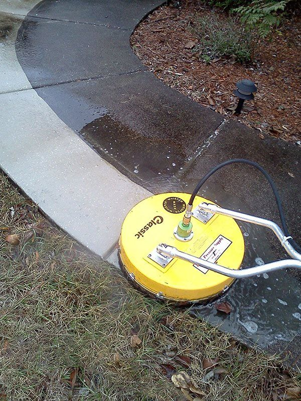 The surface cleaner is one of the best pressure washer attachments