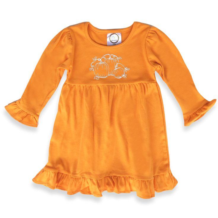 Pumpkin Long Sleeve Dress