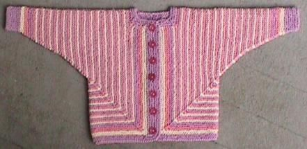 Детский жакетик спицами, вяжется из двух половин, правой и левой   |||   Описание бесплатное, на английском    |||    Free Knitting/Knitted Baby Jacket Pattern