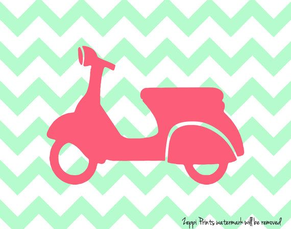 Chevron Nursery Boy Girl Art Vespa
