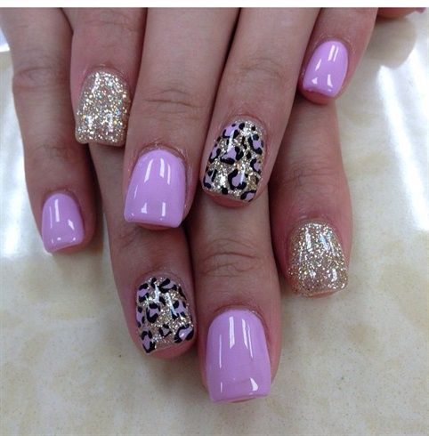 Pink & Gold With Cheetah Print