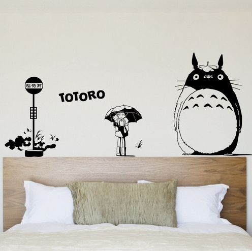 Creative DIY Wall Art Miyazaki Totoro Large Wall Stickers Kids Rooms Home Decoration  Wall Stickers Living Part 36