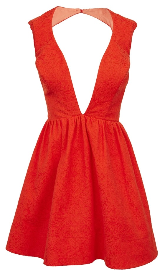 Asos Spring 2013 Red Low Cut Dress