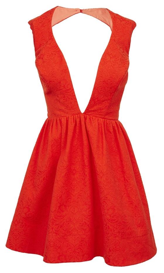 Asos Spring 2013 Red Low Cut Dress