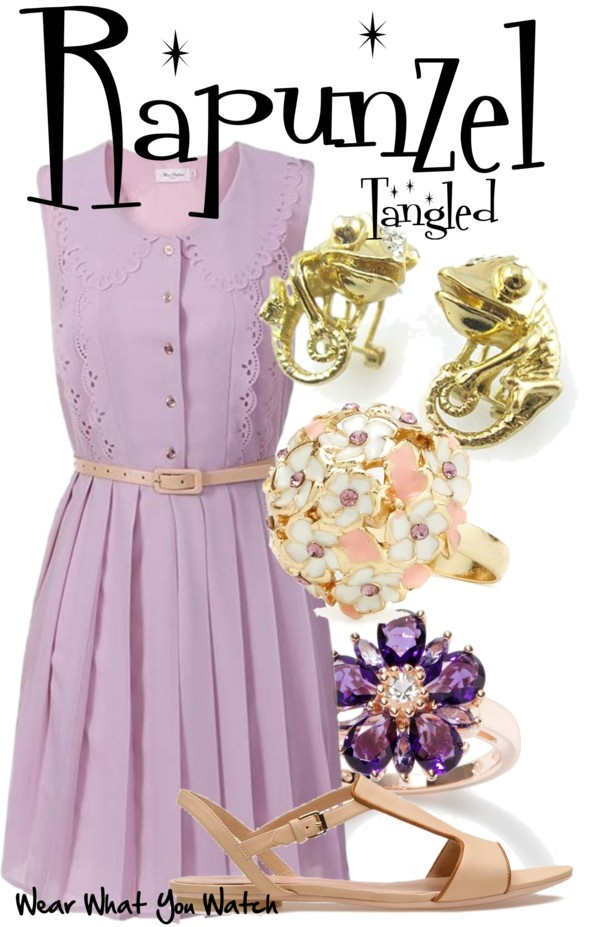 Inspired by Disney character Rapunzel, voiced by Mandy Moore in 2010's Tangled.