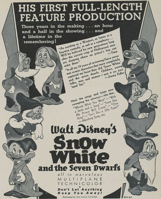 snow white and the seven dwarfs promotional poster