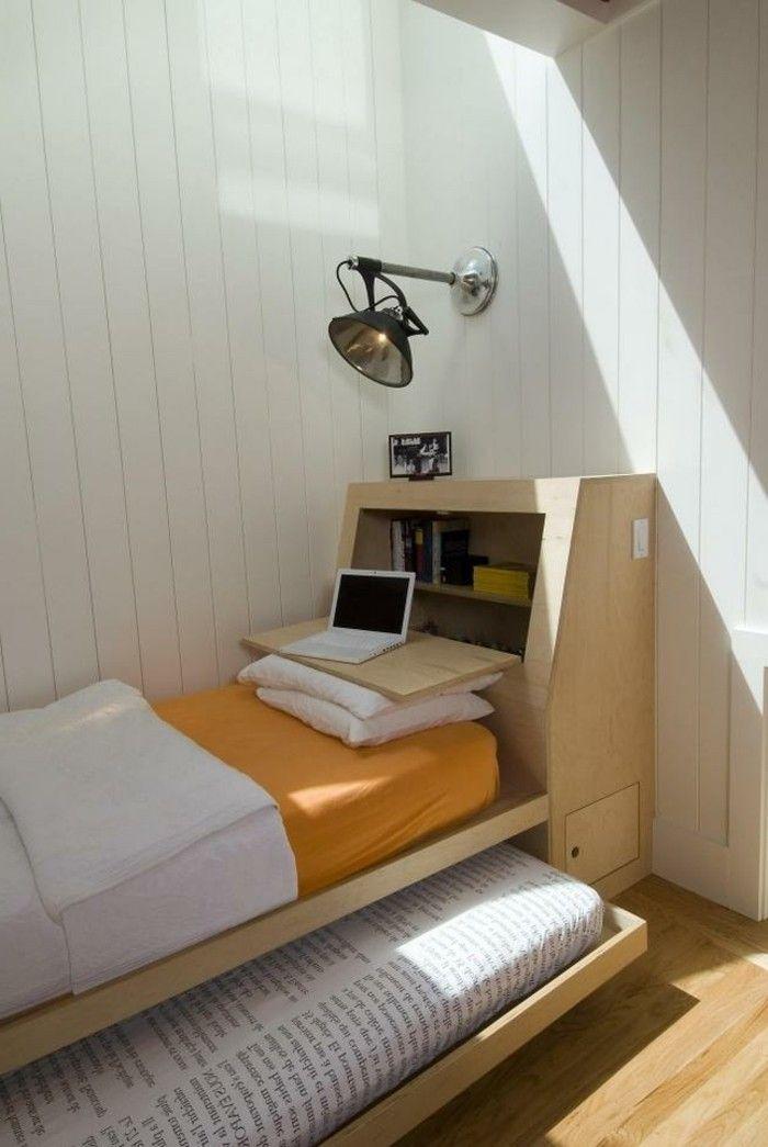 Elegant ▷ 1001+ Ideen Zum Thema Kleine Räume Geschickt Einrichten |  Einrichtungsideen | Pinterest | Holzbett, Truhe Und Bücherregale